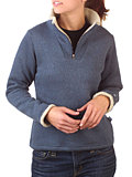 Kuhl Ingrid 1/4 Zip Sweater Women's (Deep River Blue)