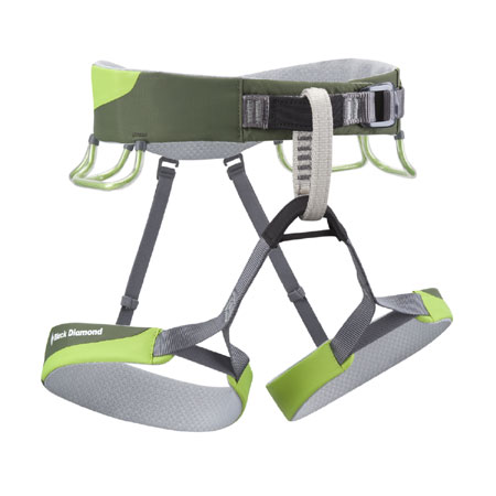 Black Diamond Ozone Sports Climbing Harness (Lime Green)
