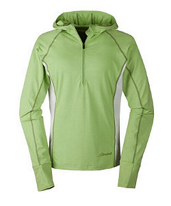 Cloudveil Run Don't Walk Performance 1/2 Zip Hoodie Women's (Erb Green / Bright White)