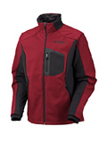 Columbia Crag Mountain Softshell Men's (Intense Red / Black)