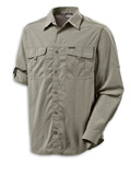 Columbia Omni-Dry Silver Ridge II Long Sleeve Shirt Men's (Fossil)