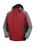 Columbia Powder Lake II Jacket Men's (Intense Red / Grout / Charcoal)