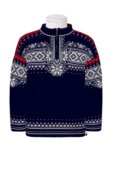Dale of Norway 125th Anniversary Sweater (Classic Navy / Off-whi