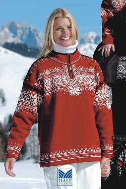 Dale of Norway 125th Anniversary Sweater (Redrose)