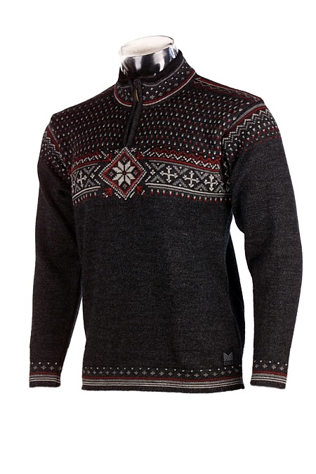 Dale of Norway Oksen Sweater Men's (Dark Charcoal Heather / Red