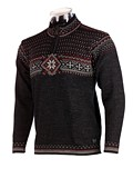 Dale of Norway Oksen Sweater Men's (Dark Charcoal Heather / Red Rose)