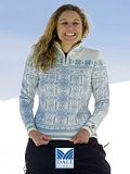 Dale of Norway US Ski Team 2007 Sweater Women's (Off-white / Dusty Turquoise)