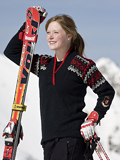 Dale of Norway Bislett Olympic Sweater Women's (Black / Raspberry)