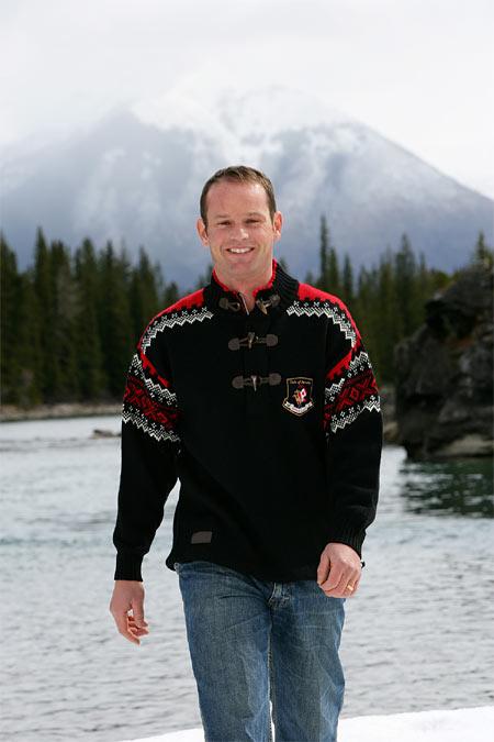 Dale of Norway Bislett Olympic Sweater Men's (Black / Raspberry)