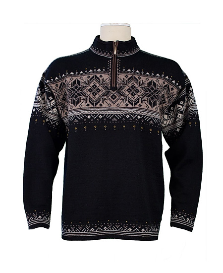 Dale Of Norway Blyfjell Sweater Men's (Black / Linen / Mountains
