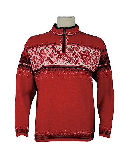 Dale Of Norway Blyfjell Sweater Men's (Raspberry / Black / Off W