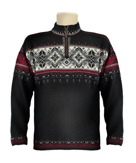 Dale Of Norway Blyfjell Sweater Men's (Black / Vino Tino / Cream