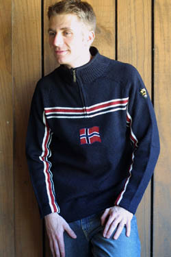 Dale of Norway Eidsvoll Zip Sweater (Navy)
