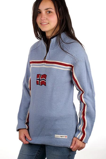Dale of Norway Eidsvoll Zip Sweater (Ice Blue)