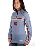Dale of Norway Eidsvoll Zip Sweater (Ice Blue)
