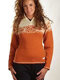 Dale of Norway Gala Feminine Sweater (Off-white / Orange)
