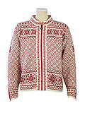 Dale of Norway Harmony Cardigan Women's (Off-White / Red Rose)