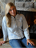Dale of Norway Harmony Cardigan Women's (Off-White / Ice Blue)