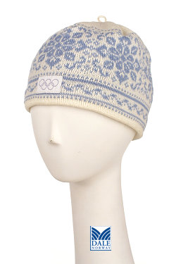 Dale of Norway Harmony / Peace Hat Women's (Off-white / Ice Blue)