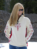Dale of Norway Istind Windstopper Sweater Women's (Cream / Lingonberry / Pink)