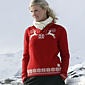 Dale of Norway Lappland Sweater Women's (Raspberry / Off-white)