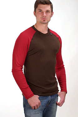 Dale of Norway Long Sleeves Base Layer Men's (Brown / Red)