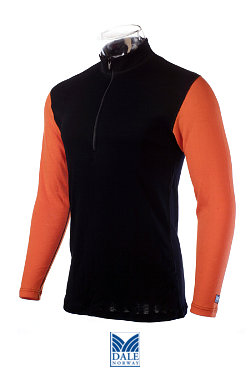 Dale of Norway Masculine Base Layer Duotone Top (Black / Orange)