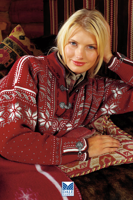 Dale of Norway Ole Bull Sweater (Red Rose)