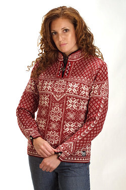 Dale of Norway Peace Sweater Women's (Redrose / Off-white)