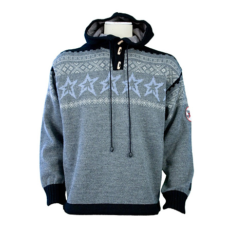 Dale of Norway Perfect Hoody (Charcoal / Sky Blue / Black)