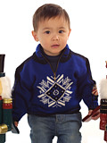 Dale of Norway Portillo Kids Sweater (Electric Blue)