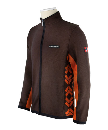 Dale of Norway Preikestolen Merino Wool Jacket Men's (Mocca / Bu