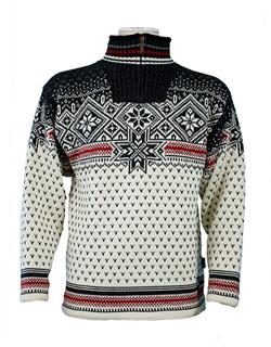 Dale of Norway Savalen Windstopper Sweater Men's (Cream / Drk Charcoal / Raspberry)