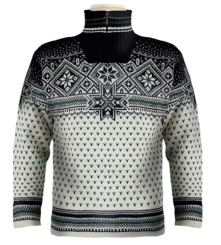 Dale of Norway Savalen Windstopper Sweater (Cream / Midnight / T