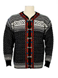 Dale of Norway Setesdal Cardigan (Black / Off-white)