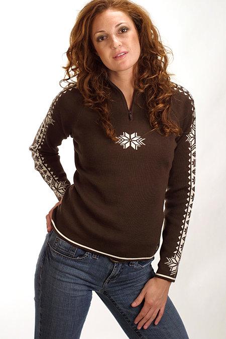 Dale of Norway Slaata Feminine Merino Sweater (Mocca)