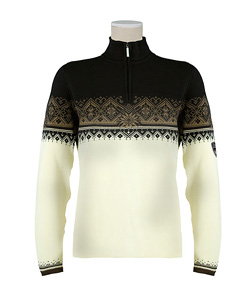 Dale of Norway St. Moritz Sweater Women's (Off-white / Erde / Black)