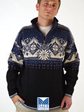 Dale of Norway St. Moritz Ski Sweater (Navy)