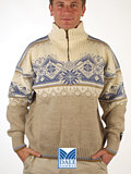 Dale of Norway St. Moritz Ski Sweater (Mixed Beige / White)