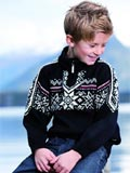 Dale of Norway Stetind Sweater Kids' (Black / Vino Tinto / Cream)