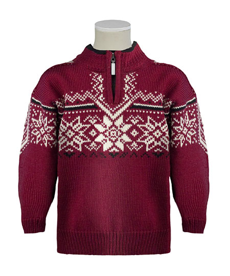 Dale of Norway Stetind Sweater Kids' (Vino Tinto / Black / Cream