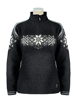 Dale of Norway Stetind Sweater Women's (Dk Charcoal / Indigo / Charcoal)
