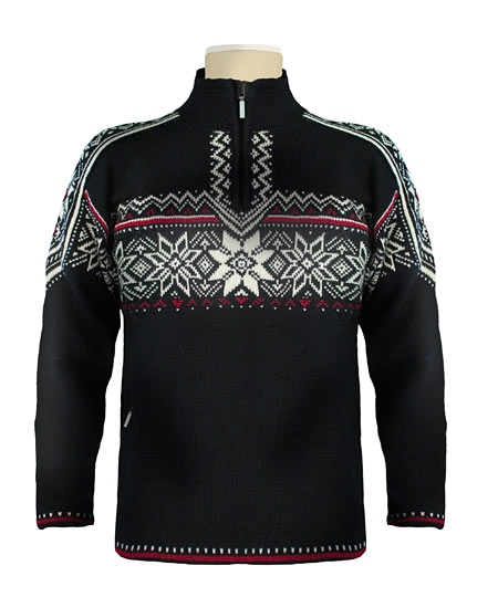 Dale of Norway Stetind WP Sweater (Black / Vino Tinto / Cream)
