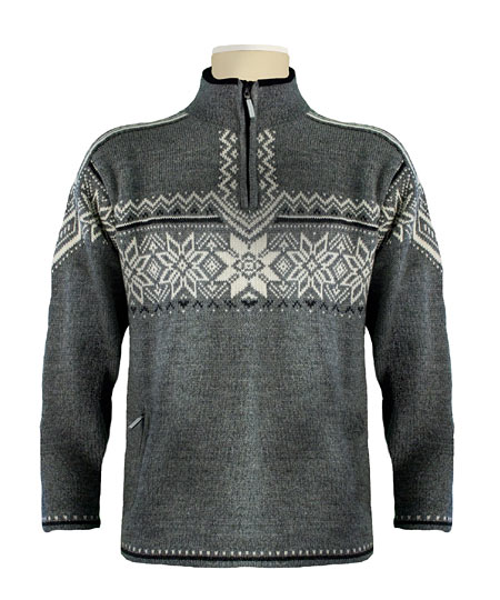 Dale of Norway Stetind WP Sweater (Smoke / Dark Charcoal / Cream