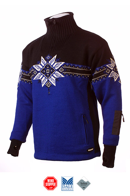 Dale of Norway Storetind GORE Windstopper Sweater (Electric Blue