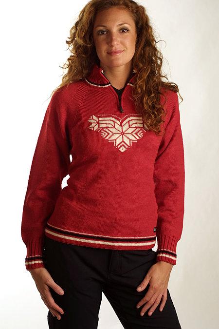 Dale of Norway Team Norge Feminine Sweater (Raspberry)