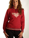 Dale of Norway Team Norge Feminine Sweater (Raspberry)