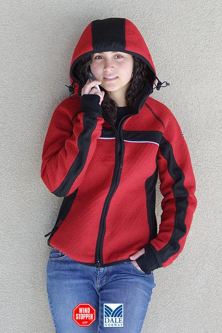 Dale of Norway Totta Knitshell Jacket Women's (Raspberry / Black