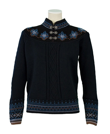 Dale of Norway Uppigard Sweater Women's (Black / Ice Blue)