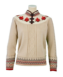Dale of Norway Uppigard Sweater Women's (Vanilla / Currant)